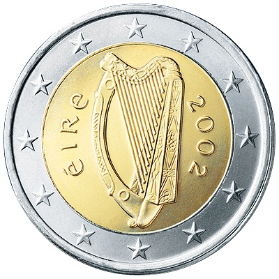 most rare circulation euros from ireland. Black Bedroom Furniture Sets. Home Design Ideas