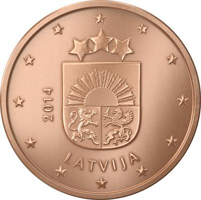 Latvia 1 cent 2014 eur16947 - Coin casa shop on line ...