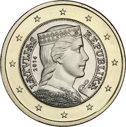 Image result for Latvia 1 Euro