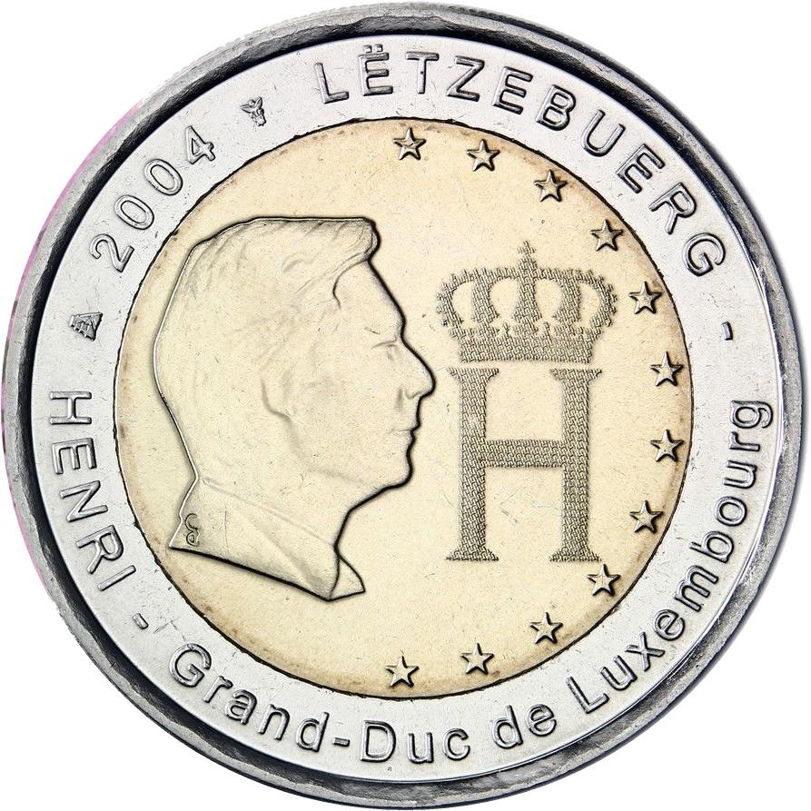 luxembourg 2 euro 2004 effigy of the grand duke henri. Black Bedroom Furniture Sets. Home Design Ideas