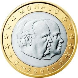 Monaco 1 Euro 2001 Eur1065