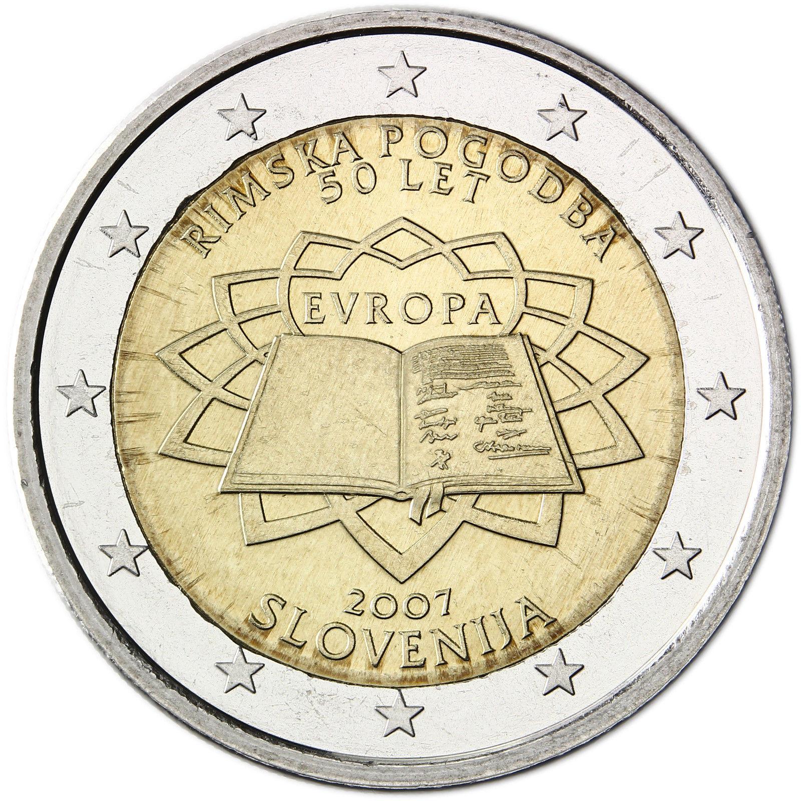 slovenia 2 euro 2007 50th anniversary of the treaty of. Black Bedroom Furniture Sets. Home Design Ideas