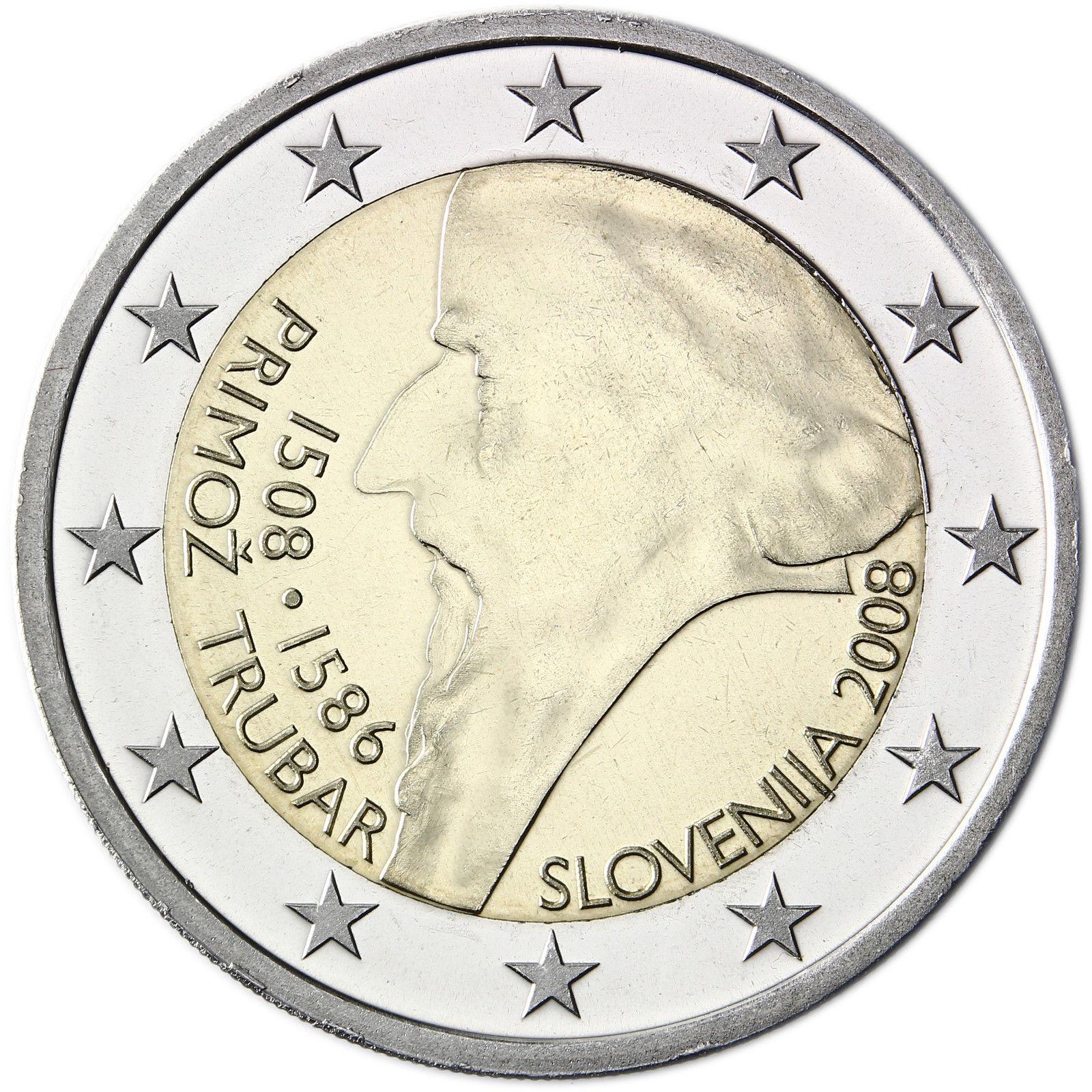 slovenia 2 euro 2008 500th anniversary of primoz trubar. Black Bedroom Furniture Sets. Home Design Ideas