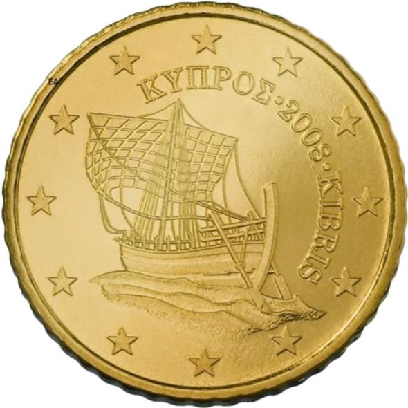 Cyprus 50 Cent 2008 Eur1048