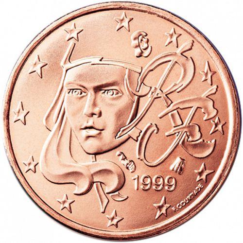 Obverse Of France 1 Cent 1999