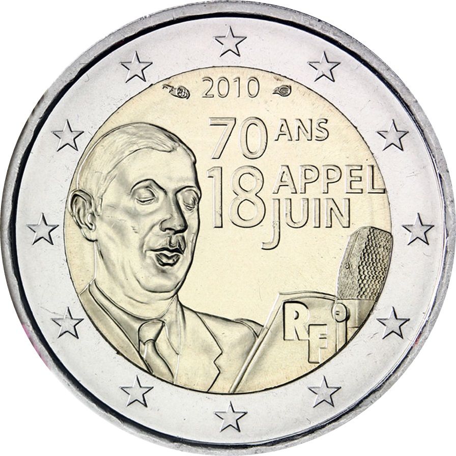 France 2 Euro 2010 70th Anniversary Of General De Gaulles Appeal