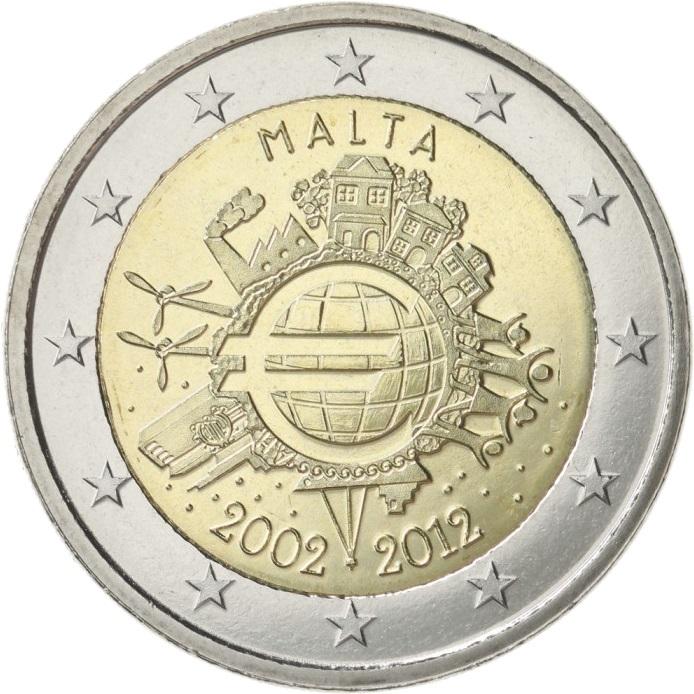 2 Euro Münzen Malta Maltesisches Kreuz Sondermünzen Historia Hamburg