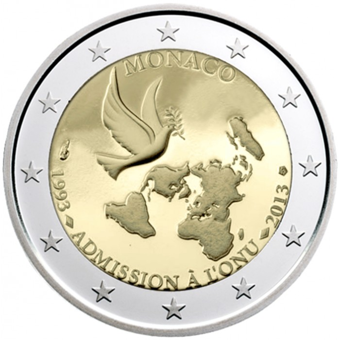 monaco 2 euro 2013 20th anniversary of its accession to