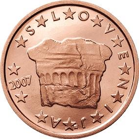 SLOVENIA KM69 2007 UNC-UNCIRCULATED MINT 2 EURO CENT COIN
