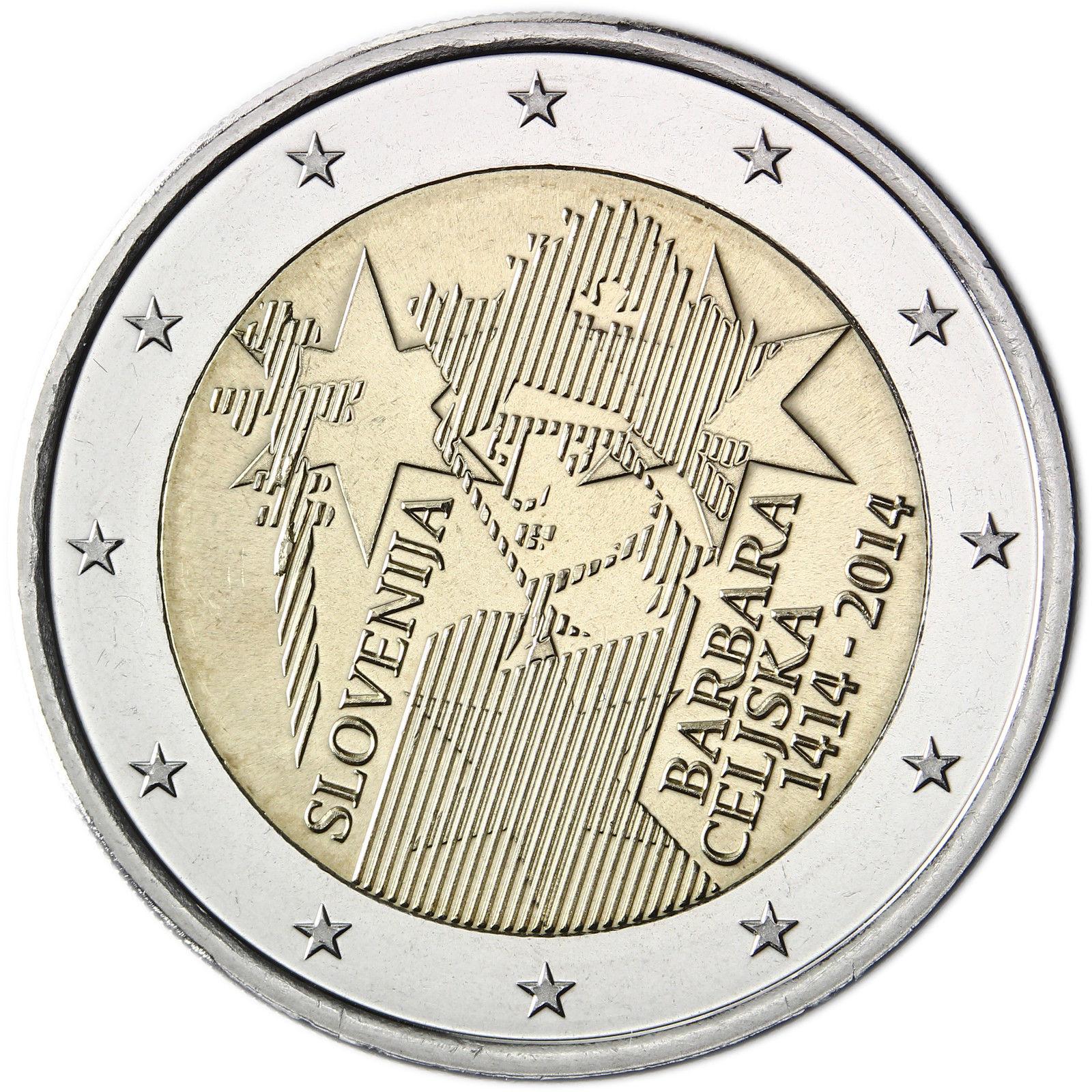 39f6afba14 Obverse of Slovenia 2 euros 2014 - 600th anniversary of Barbara of Celje