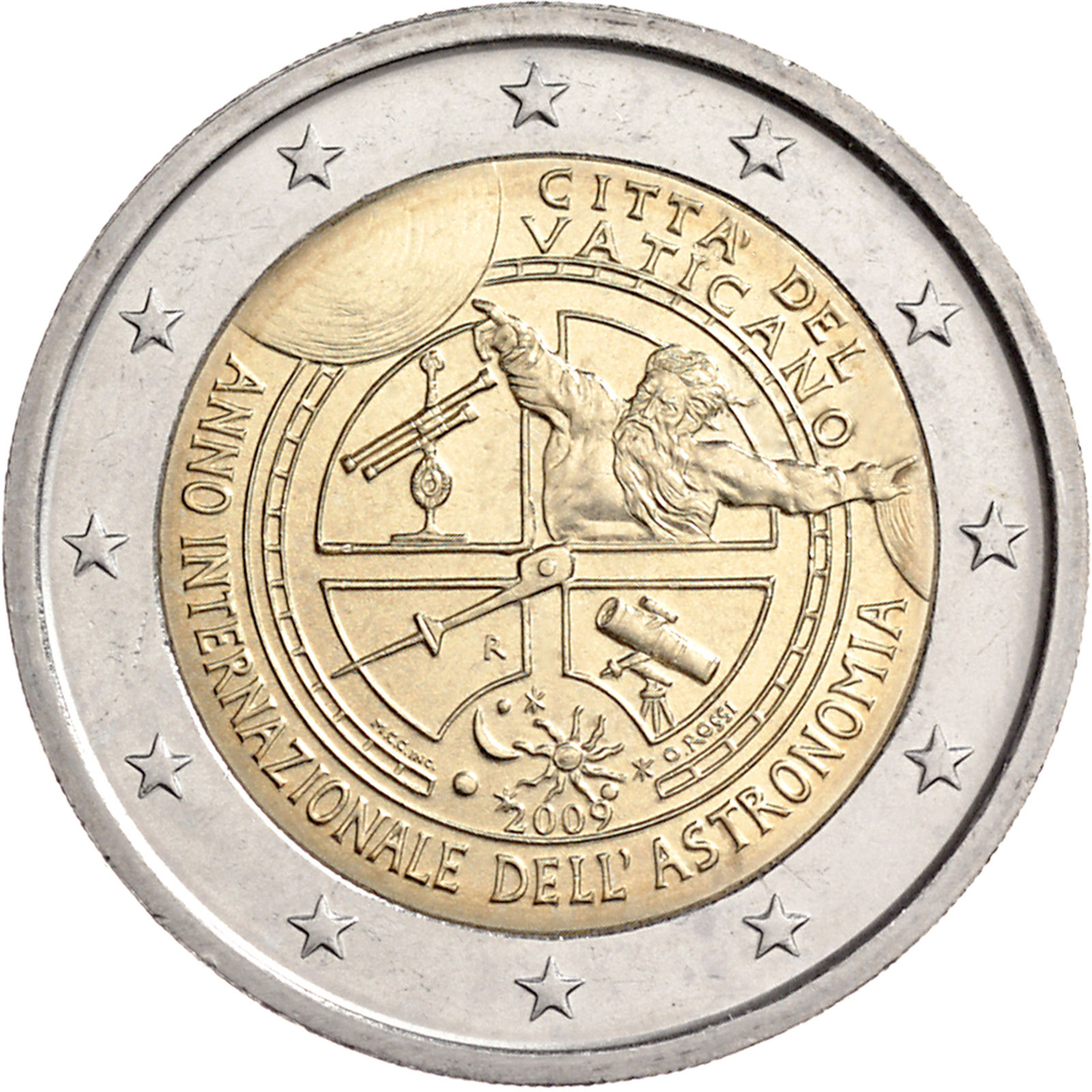 Vatican 2 euro 2009 international year of astronomy - Coin casa shop on line ...