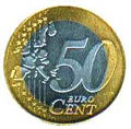 Fake 50 euro cents coin