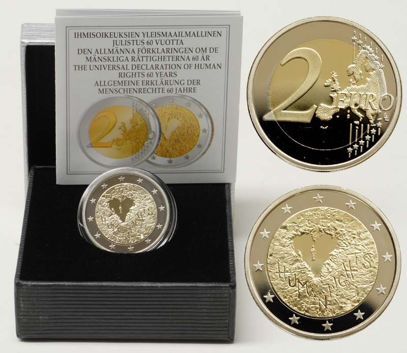 Proof Finland 2 Euro 2008 60th Anniversary Of The