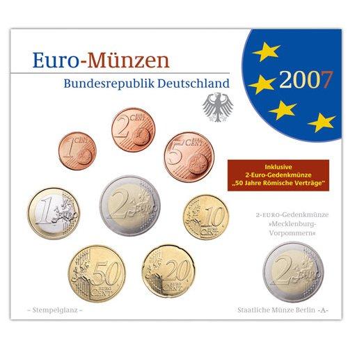 Germany 2007 Bu Set Mintmark D Official Blister Set488