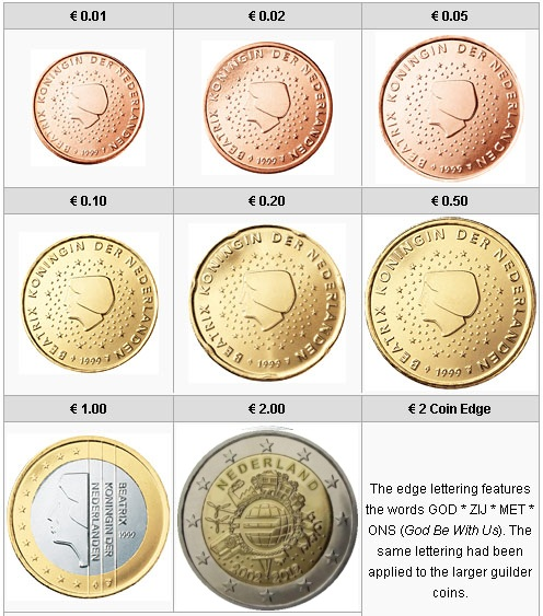 Netherlands 2012 Complete Year Set 10 Years Of Euro Set610